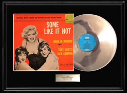MARILYN MONROE SOME LIKE IT HOT GOLD METALIZED RECORD VINYL LP RARE SOUNDTRACK