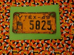 1949 Texas Motorcycle License Plate Ym5825