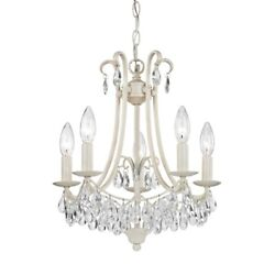 Elk Home Victorian 5-light Mini Chandelier, Antique Cream And Clear - 122-021