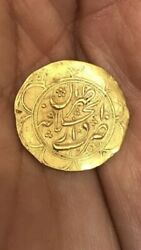 Antique Rare Islamic Arabic Solid 22ct Or 24ct Gold Calligraphy Money Coin