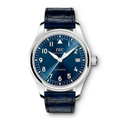 New Pilots Steel Automatic 36 Mm Blue Watch Iw324008 Brand New Complete