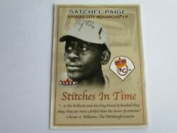 2001 Donruss Tradition Stitches in Time Satchel Paige Card #16 of 25 ST $2.99
