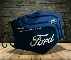 HOT!!! Ford Motor Company Save The World Coth Face Mask 100% Cotton $13.59