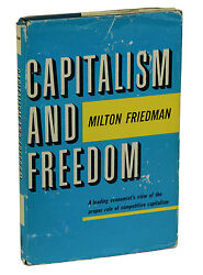 Capitalism And Freedom By Milton Friedman First Edition 1962 1st Print Nobel