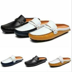 Mens Moccasin-gommino Casual Shoes Loafer Flat Heels Slip On Leather Mules 38-47