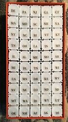 Complete Set Of 50 Rolls Of Circulated Statehood Quarters In Coinsafe Sq Tubes