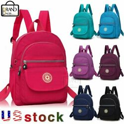Women Girl Travel Bag Mini Backpack Purse Nylon Small Backpack Shoulder Rucksack $12.65