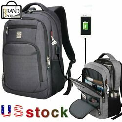 MARCELLO Laptop Backpack Business Travel College School Bag USB Charging Port US $17.99