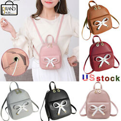 Women Mini Cute Bow Backpack Purse Small Backpack Shoulder Bag Travel Rucksack $8.80