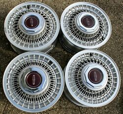Four 82 83 84 85 86 87 88 89 90 Lincoln Continental Mark Wire Wheels Rims Oem