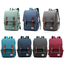 Canvas School Bag Travel Rucksack Satchel Backpack Bookbag Laptop Shoulder Pack $17.90