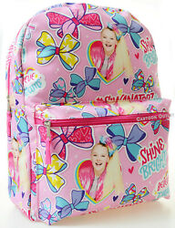 Jojo Siwa Backpack School Travel Large 16quot; Pink Backpack All Print Gift New $12.55