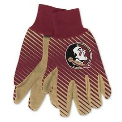 Florida State Seminoles Gloves Work Utility Adult Ncaa College Sports Stripes