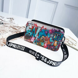 Graffiti Fashion Wide Strap Mini crossbody bags $8.75