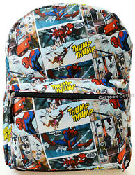 lMarvel Spiderman Boys Large Backpack 16quot; Birthday Gift Kids School Travel Bag