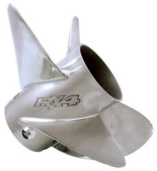 Brp Outboard Prop Stainless Steel 4 Blade V6 Rx4 20 Pitch Lh