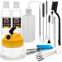 Deluxe Airbrush Cleaning Kit 3 In 1 Airbrush Clean Pot Holder Brushes Bottle