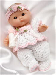 Itty Bitty Babies, Baby Doll Clothes Thread Crochet Patterns Dolls - See Pics