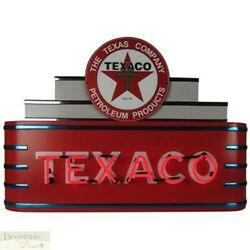 Texaco Gas Oil Marquee Art Deco Neon Sign 39 Wall Window Steel Can Housing New