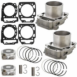 Front Rear Cylinder Piston Set For Bombardier Brp Can-am Outlander Max 800 06-15