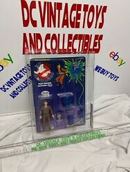 Vintage Real Ghostbusters Peter Venkman 1st Series White Text 1986 Kenner Afa 80