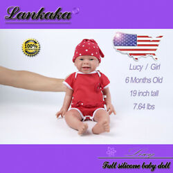 19 Soft Solid Silicone Reborn Baby Girl Dolls For Childrenand039s Birthday Gift
