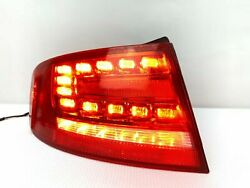 10-12 Audi A4 S4 Left Lh Driver Side Tail Light Taillight Led 8sl Quarter Outer