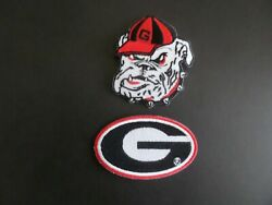 LOT OF 2 GEORGIA BULLDOGSquot; NCAA Embroidered Iron On Patches