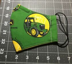 Olson John Deere Tractor Face Mask Cotton Adult One Size Fits Most Handmade $15.00