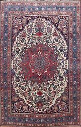 Pre-1900 Antique Vegetable Dye Floral Dorokhsh Area Rug Hand-knotted Wool 9'x12'