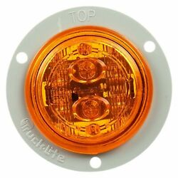 Trucklite 30386y 30 Series Led Yellow Round 6 Diode Low Profile M/c Light