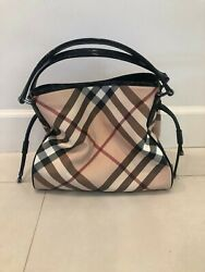 Burberry Authentic Horseferry Road Tote Plaid Bag in NEW CONDITION $395.00