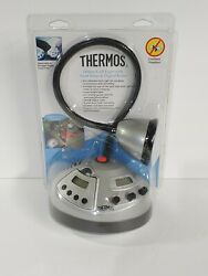 Thermos Deluxe Grill Light W/ Food Timer And Digital Radio Nip Cordless Portable