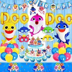Birthday Party Decorations shark 1 Party for Boy grils Baby shower 70pc $27.99