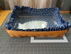 Longaberger Hostess Serving Tray Basket With Liner And Protector
