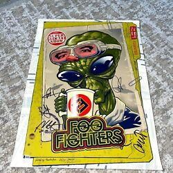 Foo Fighters Band Autographed Zombie Yeti Metro Chicago Poster Grohl+5 Beckett