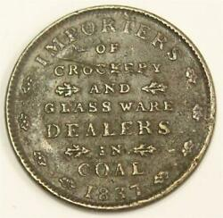 1837 E. F. Sise And Co. Hard Times Merchant Token Portsmouth New Hampshire