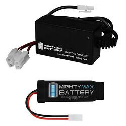 Mighty Max 8.4v Nimh 1600mah Mini Flat - Airsoft Battery For M5a5 M5 Ras + Charg