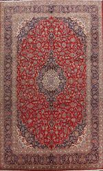 Vintage Floral Ardakan Large Area Rug Traditional Kork Wool Hand-knotted 10and039x15and039