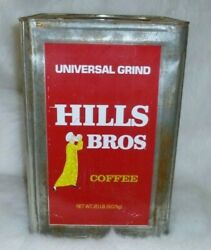 Vintage Hills Brothers Coffee Red Tin Can Universal Grind 9.07 Kg
