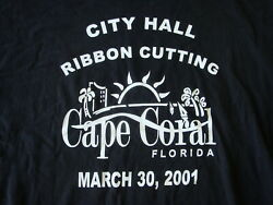 XL 330 2001 Cape Coral City Hall Building Ribbon Cutting Ceremony Tee Shirt Fl