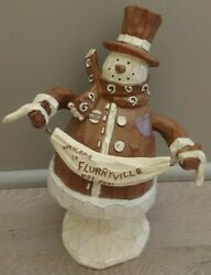 Rare Retired Mayor Mike Snowman In Box Flurryville Collection Plays Music 9 Big