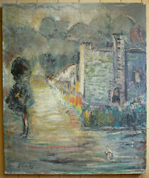 Willy Stahl Rare Early Hollywood Ca California Modernism Impressionist Old Oil
