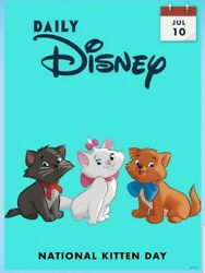 Digital Card Topps Daily Disney Collect July 10 National Kitten Day Digital Card