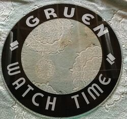 Glo Dial Vintage Electric Neon Clock Gruen Watches Glass Replacement 19 Inch