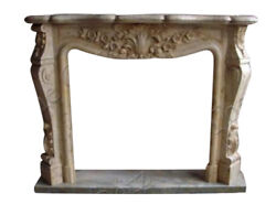 French Style Marble Fireplace Mantel In Beige 3969