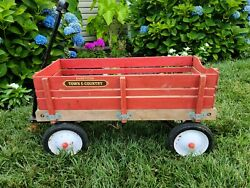 Antique Radio Flyer Town And Country Wooden Wagon. Early 80's.