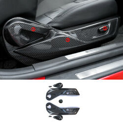 For Ford Mustang 2015-2021 Seat Adjustment Button Panel Trim 7x Dry Carbon Fiber