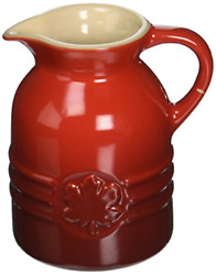 Le Creuset Pg1085-0567 Stoneware Syrup Jar 6-ounce Cerise Cherry Red