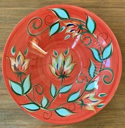 """Southern Living At Home Gail Pittman Red Bountiful Serving Bowl 15.5x3.5"""""""